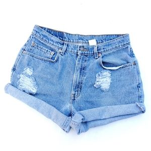 Vintage Levi's Hand Distressed Jean Shorts